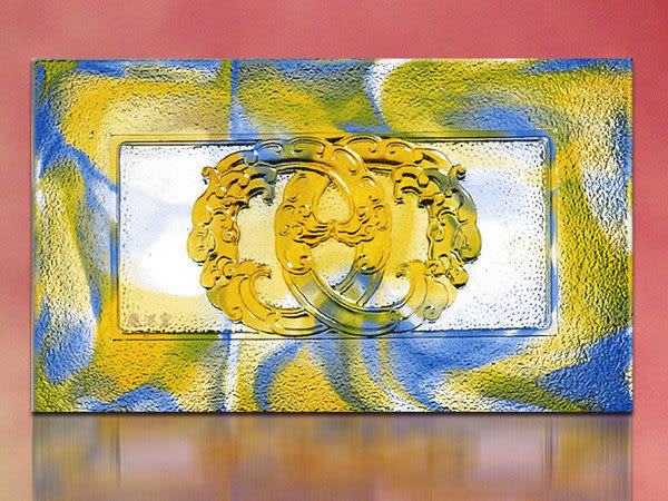 鹿港窯~居家開運琉璃磚【如意環L(浮雕) 】(單片) 附古法製作珍藏保證卡◆免運費送到家