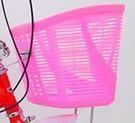 粉紅色無蓋果凍車筐