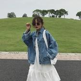 春裝牛仔外套女韓版chic寬松長袖水洗做舊百搭學生短款夾克上衣潮