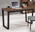 【森可家居】海爾4尺書桌(胡桃) 8CM894-1 (不含椅) 實木皮 木紋質感 工業風