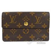 茱麗葉精品 二手精品【8.5成新】Louis Vuitton LV M60047 經典花紋多卡扣式中夾