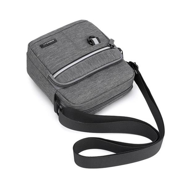 男包牛津布側背斜背包休閒帆布包男士包包背包小包手機包2020新款 黛尼時尚精品