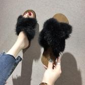 外穿拖鞋毛毛拖鞋女網紅韓版新款夏季外穿社會鞋子時尚秋穆勒外出