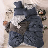 小清新舒柔床包被套組-點點格調-單人 (枕套1入)
