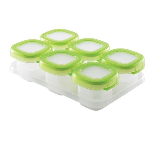美國 OXO tot Baby Blocks 食物冷存格/副食品分裝盒可冷凍、冷藏 6小