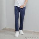 【GIORDANO】男裝素色抽繩休閒長褲-38 寶藍