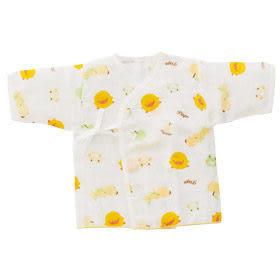 『121婦嬰用品館』黃色小鴨印圖紗布肚衣