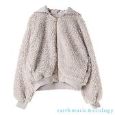 「Hot item」6WAY兩面穿毛絨X滑面可拆式連帽布勞森夾克/外套 - earth music&ecology