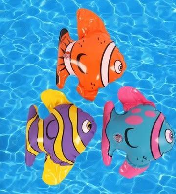 [協貿國際]  充氣小魚玩具幼兒洗澡戲水玩具 (5入)