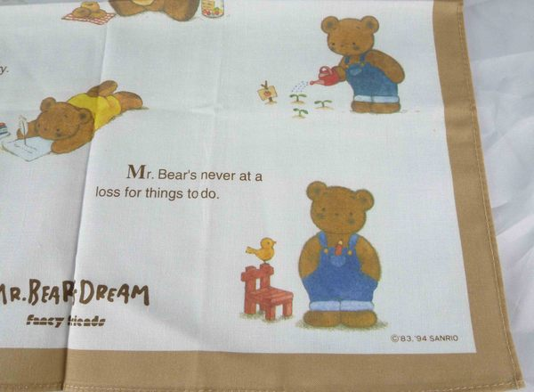 【震撼精品百貨】M.B.D.CLUB_泰迪熊 ~ 手帕『咖啡白-盪鞦韆』