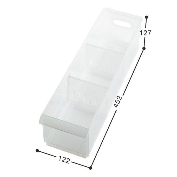 【好市吉居家生活】嚴選聯府KEYWAY~LF-1005 Fine隔板整理盒(附輪) 透明收納盒