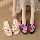 仙女拖鞋 花朵涼拖鞋女夏外穿2021年波西米亞時尚海邊穿搭度假仙女風沙灘鞋