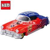 〔小禮堂〕迪士尼 米奇 TOMICA小汽車《紅.經典跑車》DM-16經典造型值得收藏4904810-48384