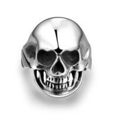 鈦鋼戒指 骷髏頭-龐克帥氣歐美復古生日情人節禮物男飾品73le232[時尚巴黎]