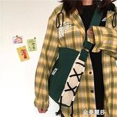 韓國ins古著感可愛少女斜挎包 日系原宿chic軟妹學生包單肩帆布包 極簡雜貨