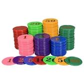 籌碼幣燙金籌碼160片彩色塑料籌碼幣配膠合麻將撲克游戲用品 米家