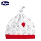 【零碼出清】chicco-小燈泡-打結嬰兒帽-紅燈泡