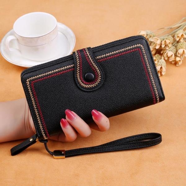 手拿包 錢包女長款2021新款日韓拉鏈包多功能大容量女式多卡位零錢皮夾子 ww