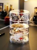 透明亞克力多功能首飾盒收拾飾品收納發圈耳環釘手項鍊收納整理架