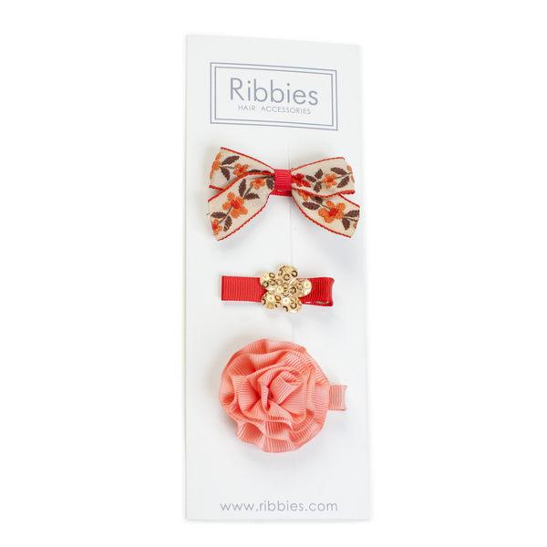 美國 Ribbies Clippies 綜合緞帶3入組【Annabelle】