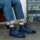 低幫雨鞋男款潮流水鞋男雨靴短筒廚房防水工作鞋防滑膠鞋平底塑膠 小山好物