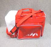「野球魂中壢店」--「HATAKEYAMA」個人裝備袋(側袋型,紅×白色)