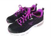 『雙惠鞋櫃』★JUMP將門★ 黑紫條紋 線條 氣墊 透氣網布 女休閒運動鞋/布鞋 ★(316) 黑紫