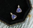 純18K金鑲鑽石 天然丹泉石項鍊 優惠價...