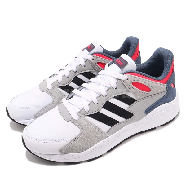 adidas 休閒慢跑鞋 Chaos 灰 藍 低筒 舒適緩震 運動鞋 男鞋【PUMP306】 EE5589