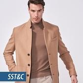 SST&C 男裝 駝色毛呢大衣   0612010006