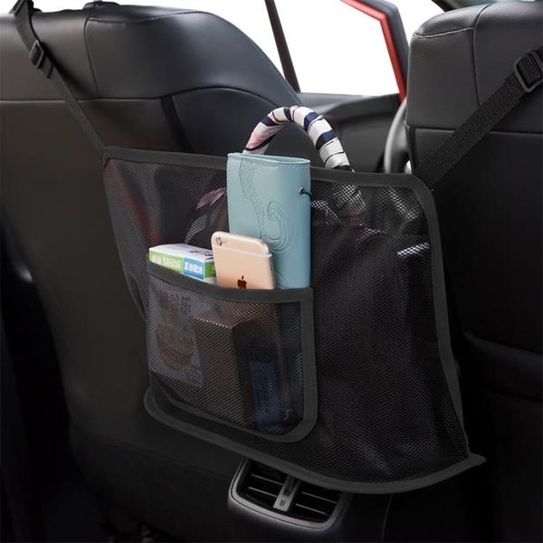 汽車掛袋 汽車座椅間儲物網兜車載收納袋掛袋椅背置物袋車內放包包收納用品