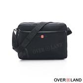 OVERLAND - 美式十字軍 - LOGO浮印拉鍊側背包 - 3141