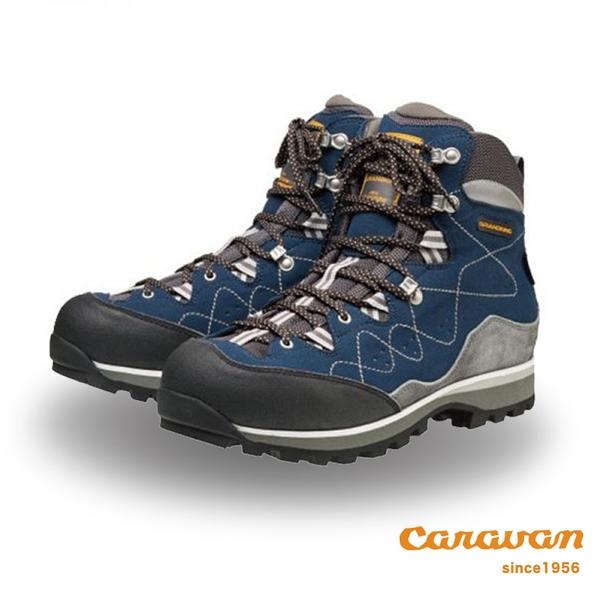 【日本Caravan】GK_83  中筒 防水 戶外 登山鞋 健行鞋(海軍藍)