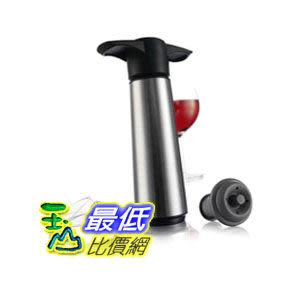 [104美國直購] 《VACU VIN》649360 Crystal Wine Saver Pump with 2 x Vacuum Bottle Stoppers and 2 x Wine Serv..