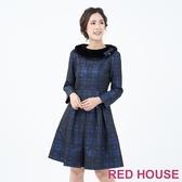 【RED HOUSE 蕾赫斯】可拆毛領洋裝(共2色)