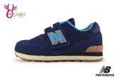 New Balance 574  Cordura防潑水布料 中大童運動鞋 男童 寬楦 O8457#藍 ◆OSOME奧森鞋業