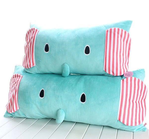 【發現。好貨】正品毛絨小象單人枕雙人枕 馬戲團薄荷象可拆洗單人枕頭 抱枕