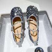 豆豆鞋 單鞋女夏季豆豆百搭夏款亮片淺口圓頭軟底休閒瓢鞋-Ballet朵朵