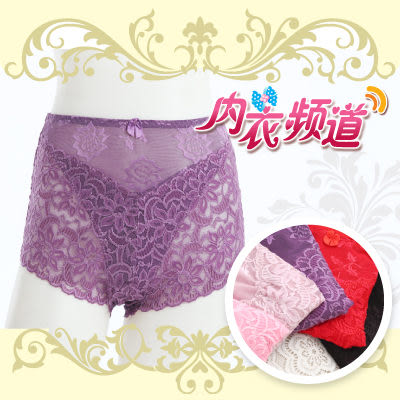 內衣頻道♥ D2207- 彈性佳 中高腰 迷人蕾絲褲- 加大款式(適合L~XXL) (3入/組)