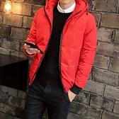 夾克外套-連帽後背時尚鯊魚印花夾棉男外套3色73qa32【時尚巴黎】