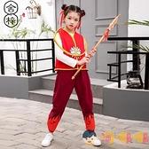 兒童萬聖節服裝男女童哪吒同款cos表演出服套裝紅【淘嘟嘟】