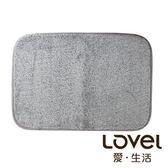 里和Riho LOVEL馬卡龍超細纖維止滑浴墊/地墊(棉柔灰) 腳踏墊 防滑墊