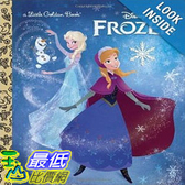 【103 美國直購】 2014 美國銷書榜單 迪士尼 冰雪奇緣  Frozen Little Golden Book (Disney Frozen)  $331