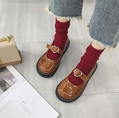 娃娃鞋 單鞋女新款百搭韓版平底chic網紅復古大頭原宿小皮鞋潮 - 風尚3C