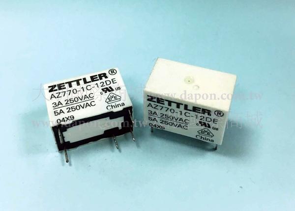*大朋電子商城*AMERICAN ZETTLER AZ770-1C-9DE 繼電器Relay(5入)