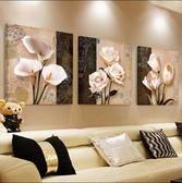 客廳裝飾畫 現代簡約水晶畫 沙髮背景墻三聯畫壁畫掛畫墻畫無框畫