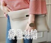 公事包女手拿包韓版新款簡約時尚大容量手抓包公文包文件包cp166【優品良鋪】