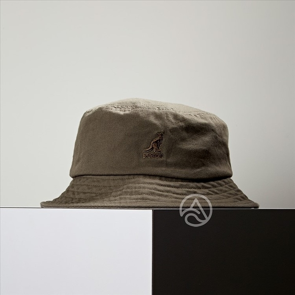 KANGOL Washed Bucket 軍綠色 漁夫帽 100169215-51