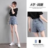 牛仔短褲女夏季薄款2021年新款潮ins寬鬆高腰破洞網紅a字熱褲外穿