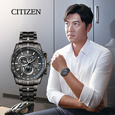 CITIZEN 星辰 廣告款光動能萬年曆電波錶-43mm CB5887-55H